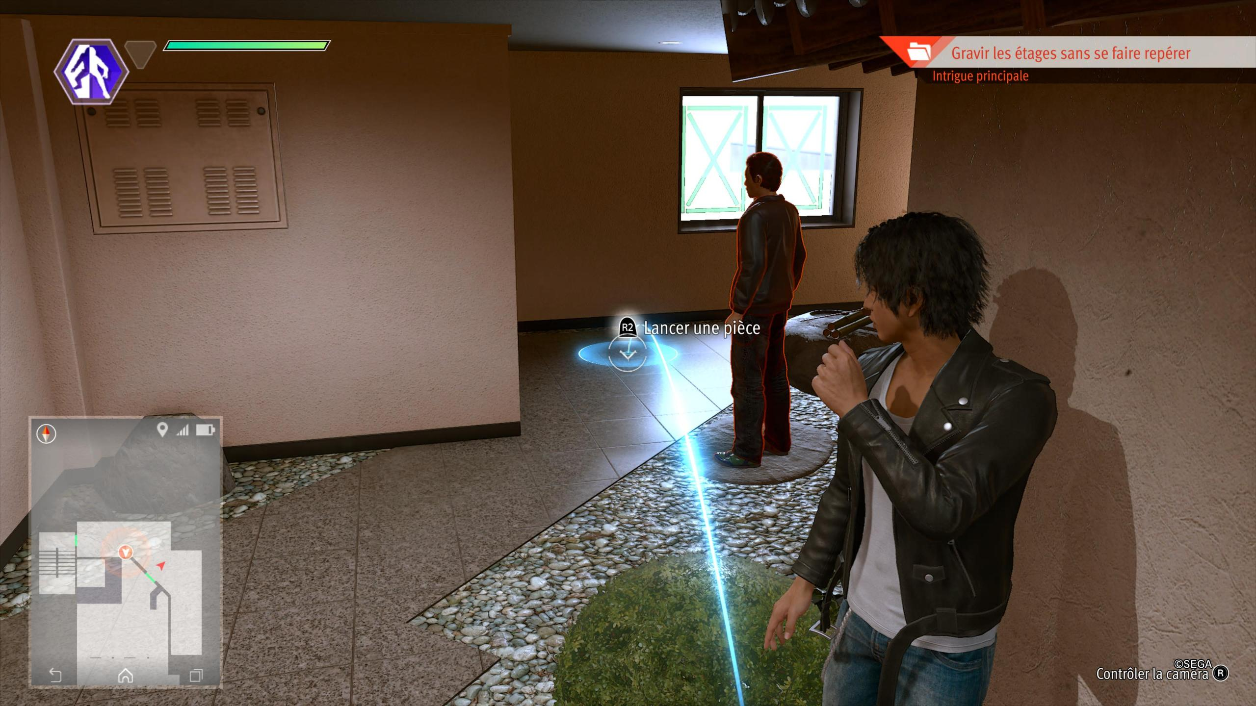 Phase d'infiltration dans Lost Judgment.